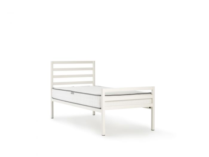 Academy White Metal Single Bed | Now On Sale | Bedtime.