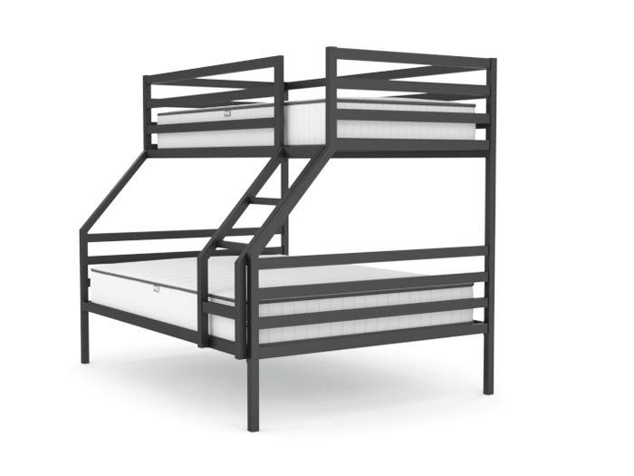 Academy Graphite Grey Modern Triple Bunk Bed