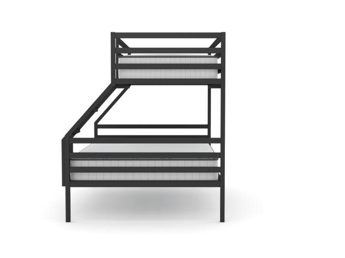 Academy Graphite Metal Trio Bunk Bed
