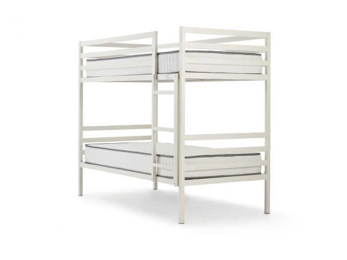 Academy White Metal Bunk Bed | Now On Sale | Bedtime.