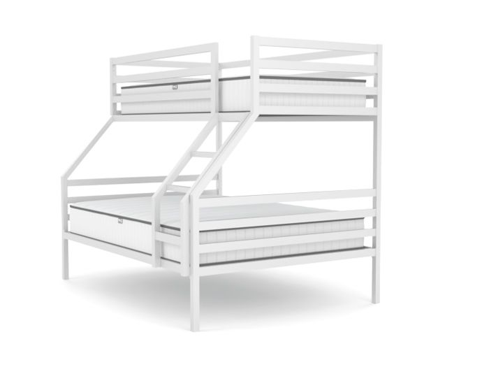 Academy White Triple Bunk Bed