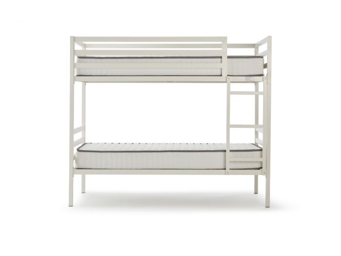 Academy White Metal Bunk Bed Frame | Now On Sale | Bedtime.