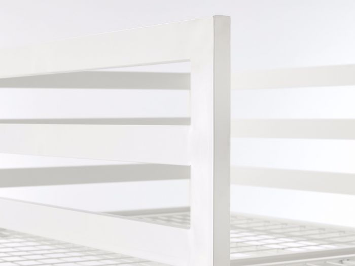 Academy White Metal Bunk Bed Detail 2 | Now On Sale | Bedtime.