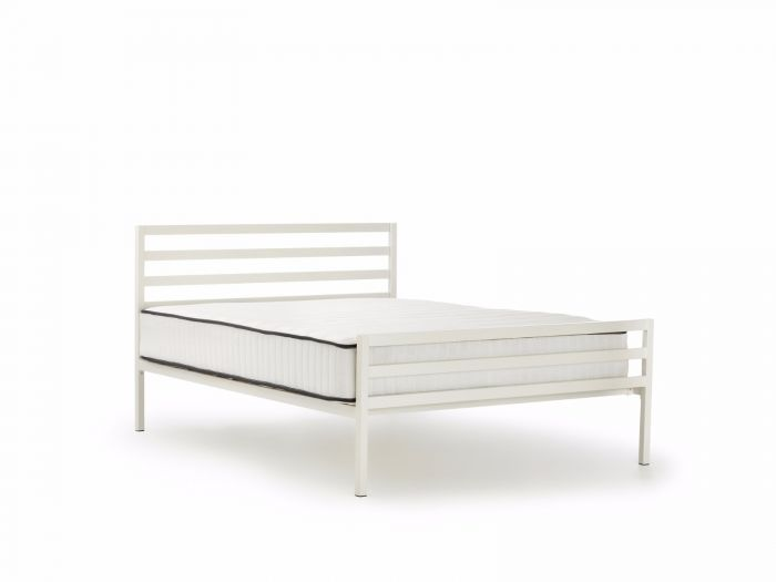 Academy White Metal Queen Bed | Now On Sale | Bedtime.