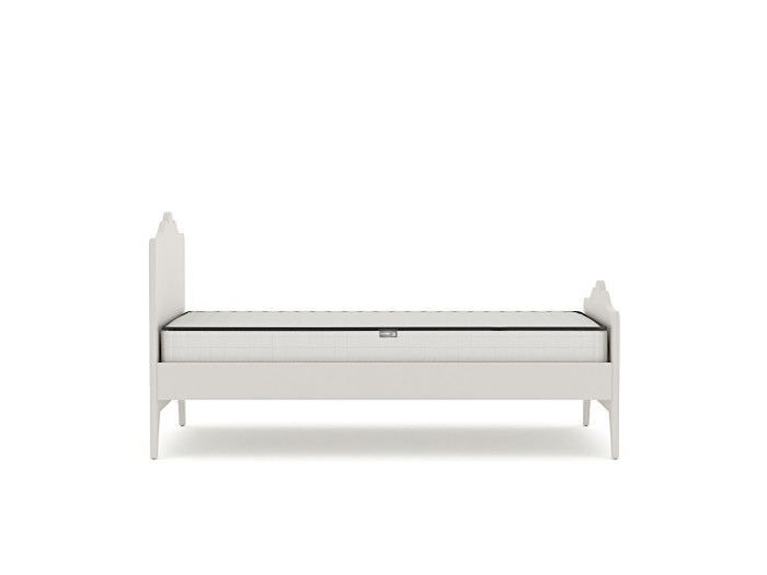 Arendelle White Single Bed | Side View |  Bedtime.