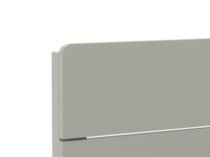 Arlo Modern Grey King Single Bed | Head | Beditme.