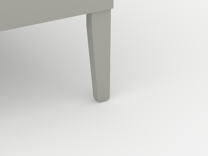 Arlo Modern Grey Single Bed | Leg | Beditme.
