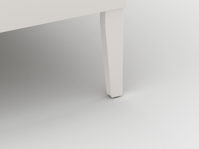 Arlo Modern White King Single Bed | Leg | Beditme.