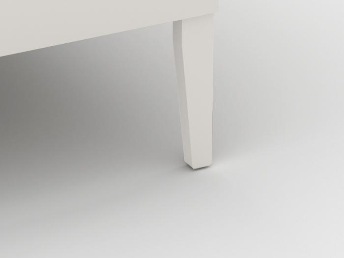 Arlo Modern White Single Bed | Leg | Beditme.