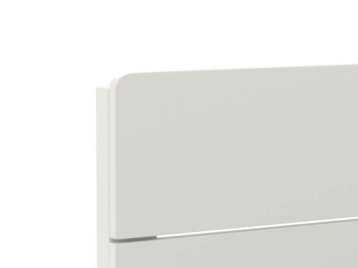 Arlo Modern White Single Bed | Head | Beditme.
