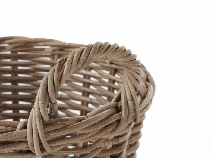 Round Basket with Handles   Now On Sale   Handle View   Bedtime.