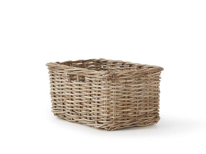 Lakewood Cane Rectangular Storage Basket | Bedtime.