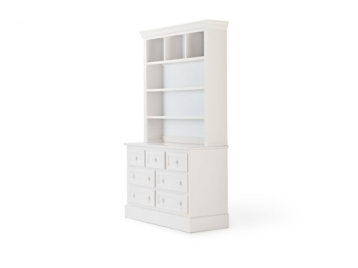 Classic White 7 Drawer Hutch | Bedtime.