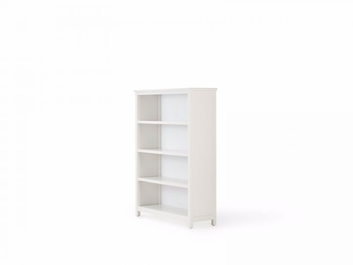 Hampton Four Shelf White Bookcase | Now On Sale | Bedtime.