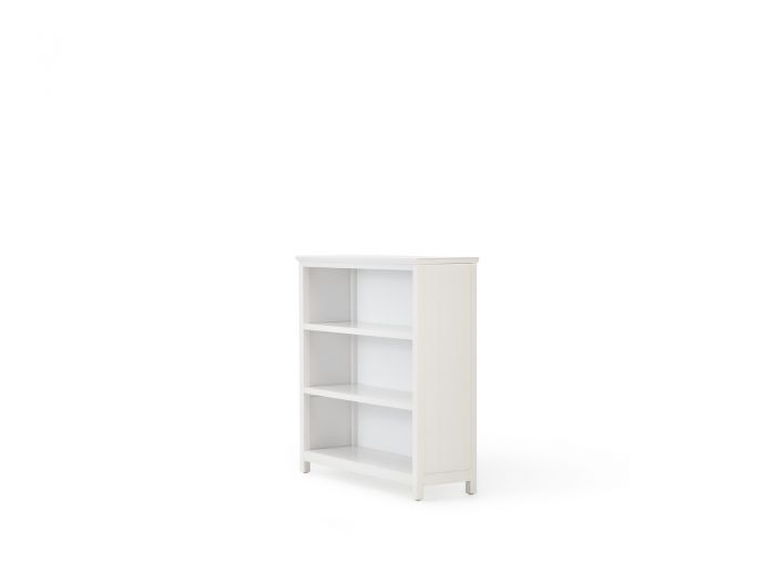 Hampton Three Shelf White Bookcase | Bedtime.