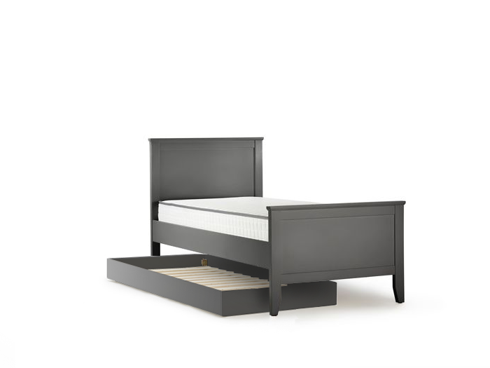 Classic Graphite Wooden Trundle Bed