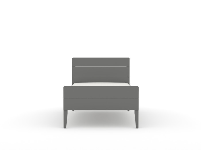 Arlo Modern Graphite Single Bed |  End View  | Beditme.