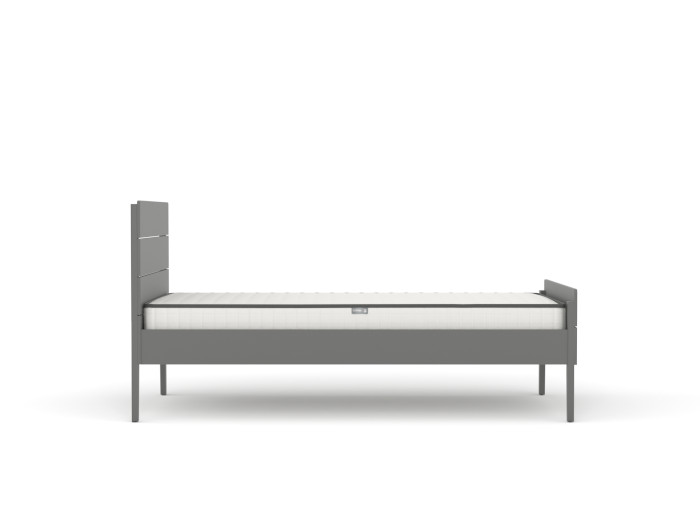 Arlo Modern Graphite Single Bed |  Side View  | Beditme.