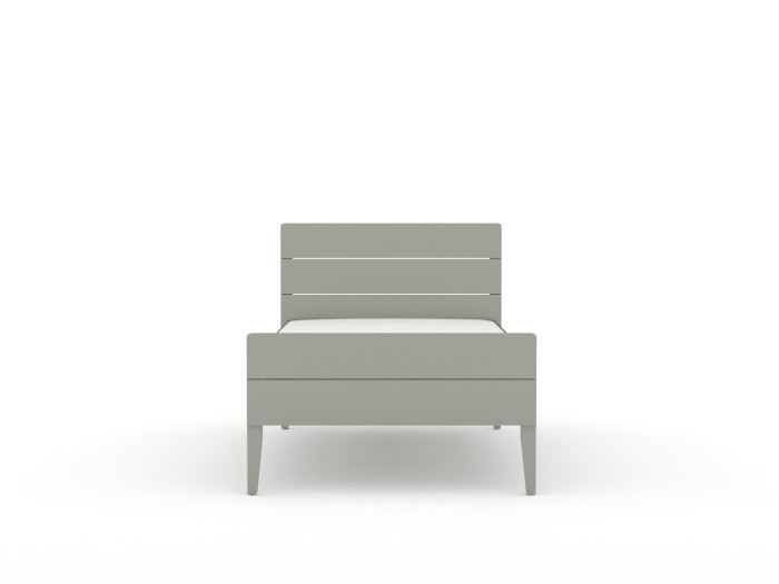 Arlo Modern Grey Single Bed | End View | Beditme.