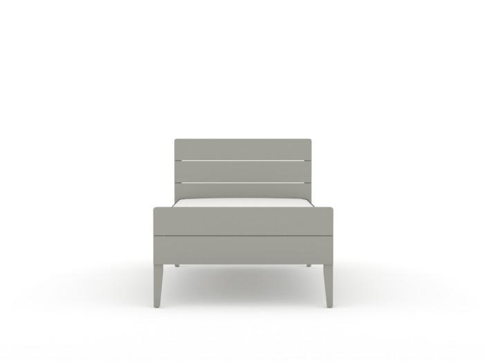 Arlo Modern Grey King Single Bed | End View | Beditme.