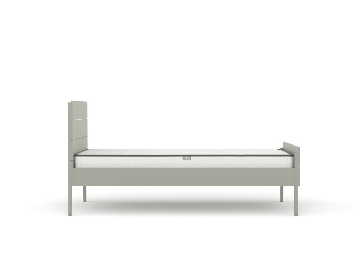 Arlo Modern Grey King Single Bed | Side View | Beditme.