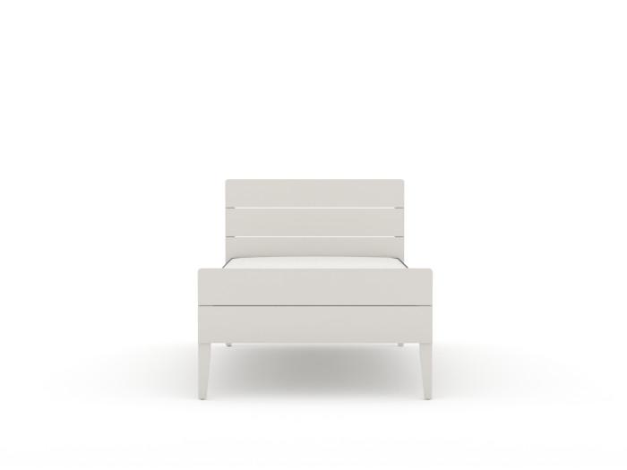 Arlo Modern White Single Bed | End View | Beditme.