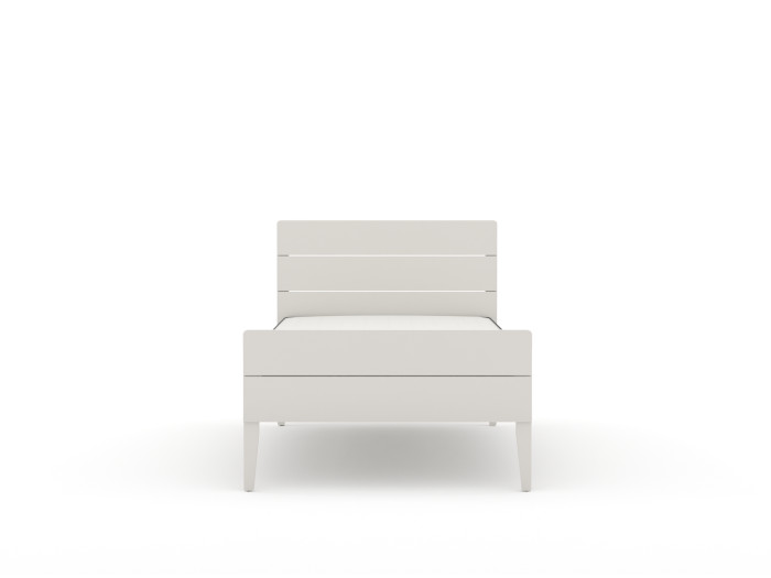 Arlo Modern White King Single Bed | End View | Beditme.