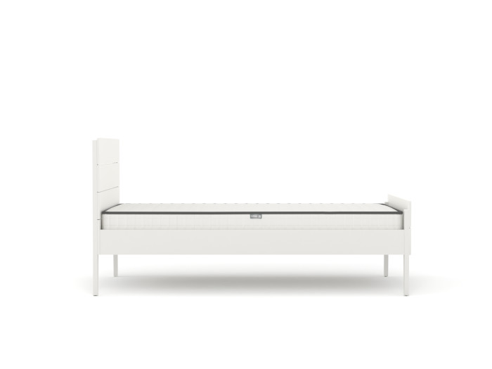 Arlo Modern White King Single Bed | Side View | Beditme.