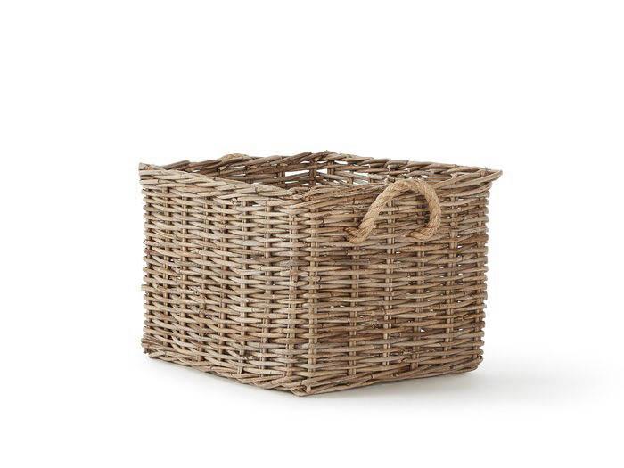 Hampton Cane Large Storage Basket | Bedtime.