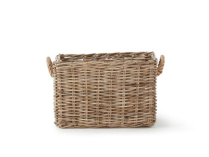 Hampton Small Storage Basket | Now On Sale | Side View | Bedtime.