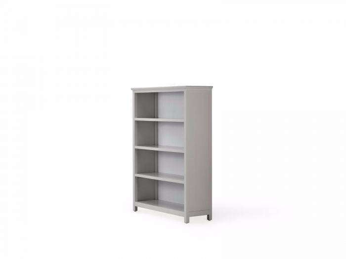 Hampton Four Shelf Grey Bookcase | Bedtime.