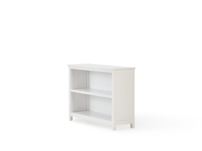 Hampton Two Shelf White Bookcase | Now On Sale | Bedtime.
