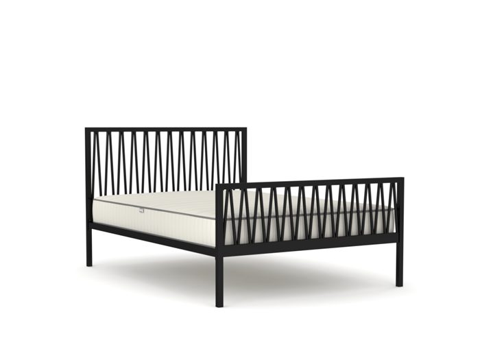 Skandia Matte Black Queen Bed | Bedtime.
