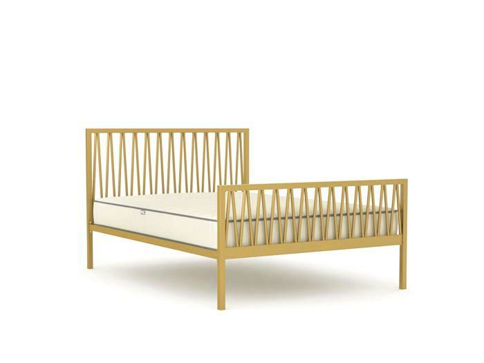 Skandia Soft Gold Queen Bed | Bedtime.