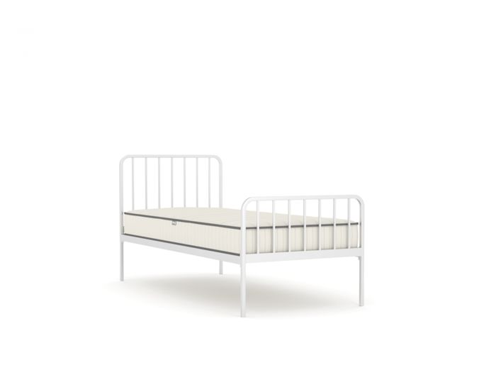 Harpo White Metal Single Bed | Now On Sale | Bedtime.