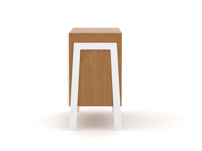 Kaspar Three Drawer Dresser - Side View