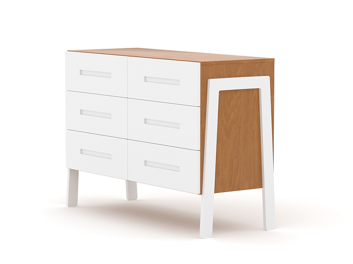 Kaspar Two Tone Six Drawer Chest Of Drawers