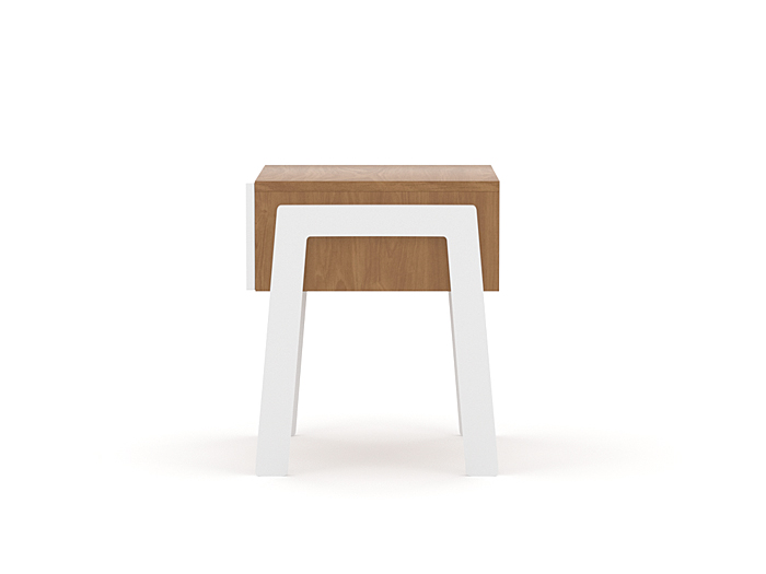 Kaspar Bedside Table - Side View