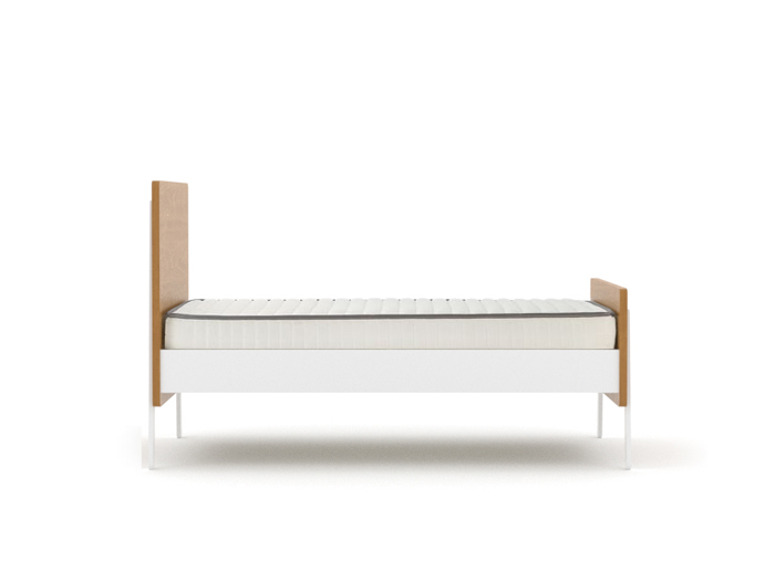 Kaspar Contemporary Single Bed - Front View
