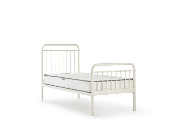 Loft White Metal Single Bed | Now On Sale | Bedtime.