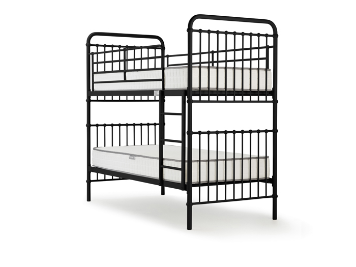 Loft Black Metal Bunk Bed - Front View