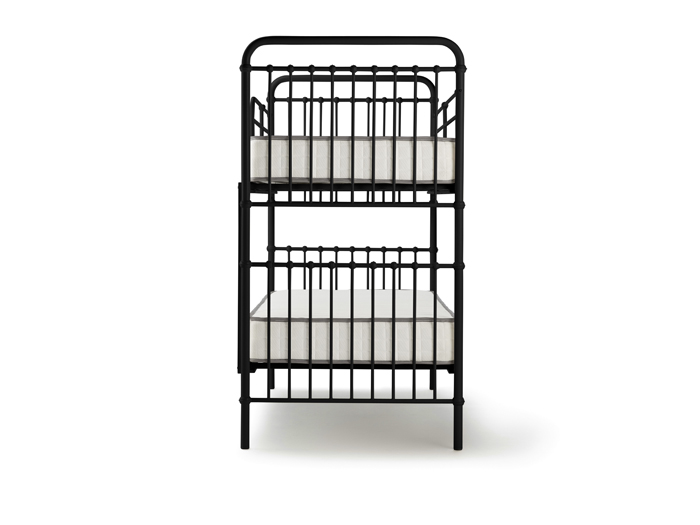 Loft Black Metal Bunk Bed - End View