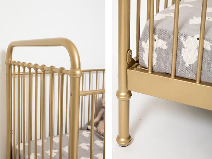 Loft Soft Gold Cot - Details