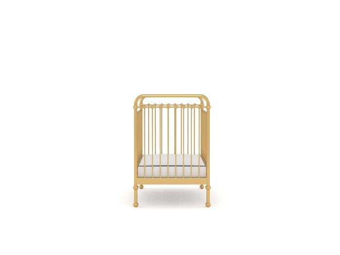 Loft Soft Gold Cot - End
