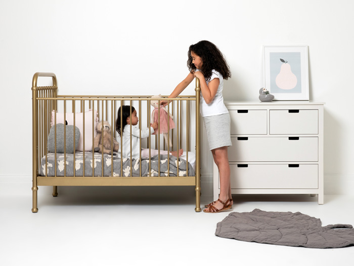 Loft Soft Gold Cot - Lifestyle