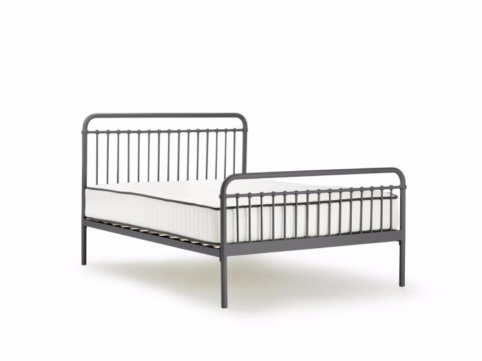 Loft Graphite Metal Queen Bed | Bedtime.
