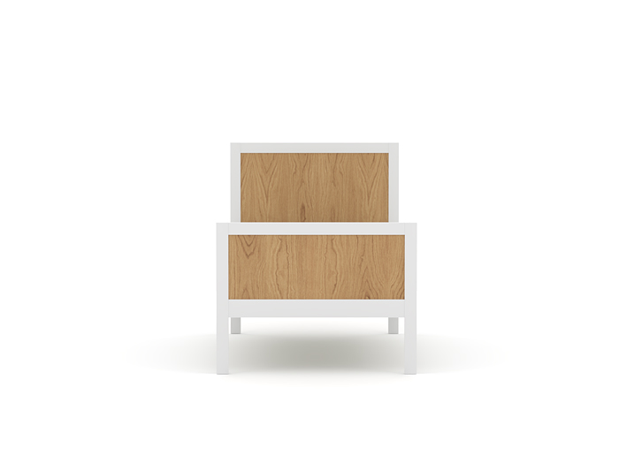 Lund Single Bed - End View