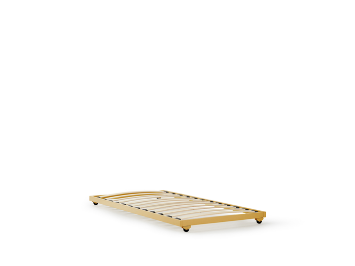 Bedtime Loft Gold Metal Trundle Bed