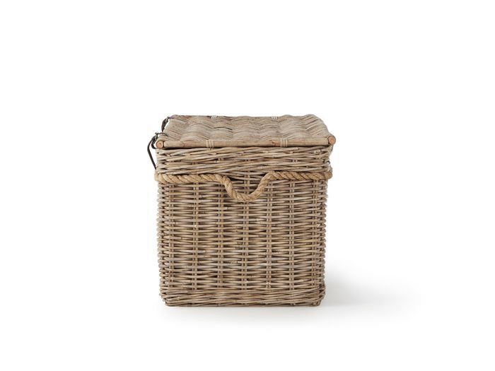 New England Large Hamper | Now On Sale | End View | Bedtime.