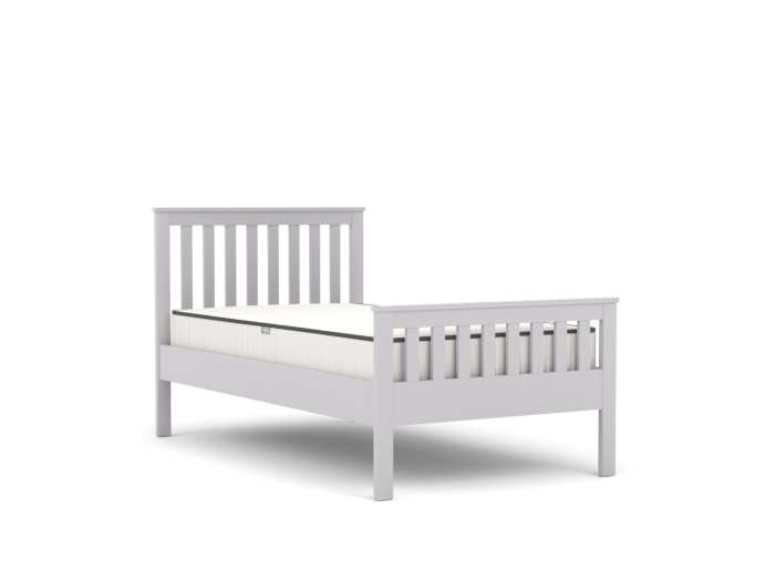 Newport Grey Single Bed | Bedtime.